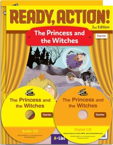Ready, Action! Starter The Princess and the Witches Pack [Drama Book (with Audio CD+Digital CD)+Workbook]