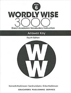 Wordly Wise 3000 4E 6 Answer Key